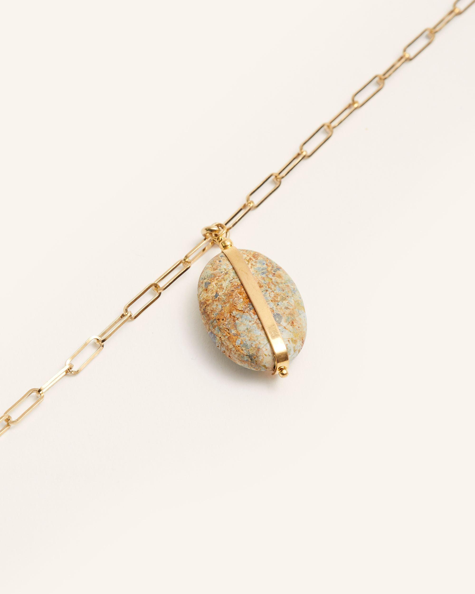 Halskette, Verdigris, Isabel Marant, Stone